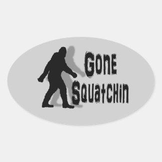 sasquatch grande del pie del friki nerdy divertido pegatina ovalada