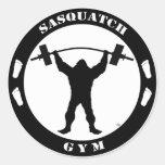 Sasquatch Gym Round Sticker