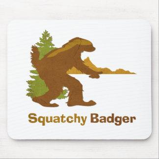 Sasquatch + Honey Badger + Love = Squatchy Badger Mouse Pad