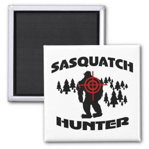 Sasquatch Hunter 2 Inch Square Magnet