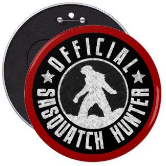 Sasquatch HUNTER Circle logo 6 Inch Round Button