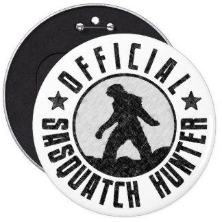 Sasquatch HUNTER Circle logo Black 6 Inch Round Button