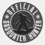 Sasquatch HUNTER Circle logo Classic Round Sticker