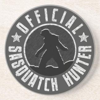 Sasquatch HUNTER Circle logo Beverage Coasters