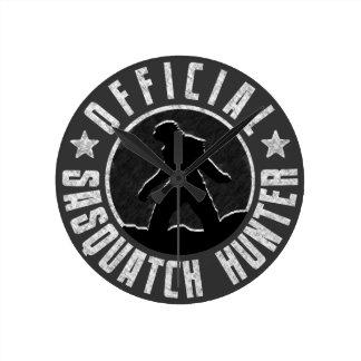 Sasquatch Hunter - Official Bigfoot Finder Round Clock
