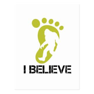 Sasquatch- I Believe Postcard