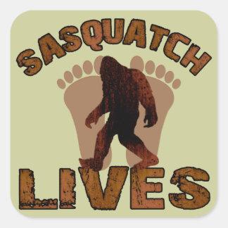 Sasquatch Lives Square Sticker