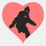 Sasquatch Love Heart Sticker