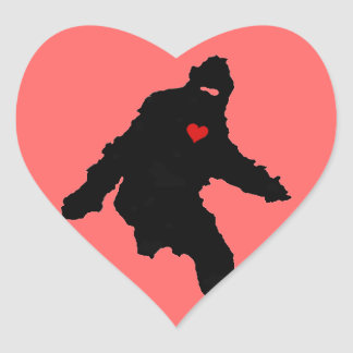 Sasquatch Love Heart Sticker