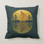 Sasquatch Moon Pillow