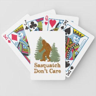 Sasquatch no cuida baraja