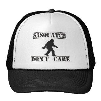 Sasquatch no cuida el gorra