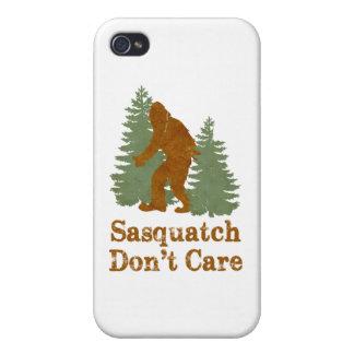 Sasquatch no cuida iPhone 4 carcasas