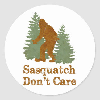 Sasquatch no cuida etiquetas redondas