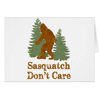 Sasquatch no cuida tarjeton