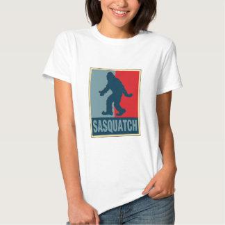 Sasquatch Obama Poster Style T Shirt