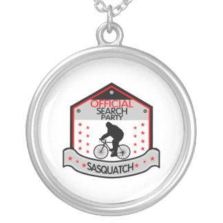 Sasquatch Official Search Party Silver Plated Necklace