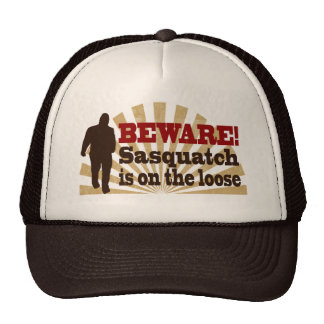 Sasquatch on the Loose Mesh Hat