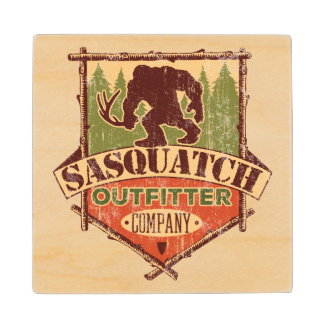Sasquatch Outfitter Company Rustic Wooden Coasters