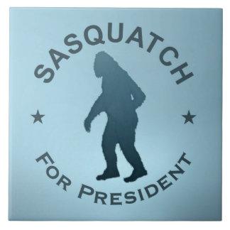 Sasquatch para el presidente azulejo cuadrado grande