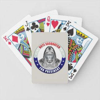 Sasquatch para el presidente baraja