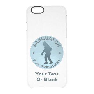 Sasquatch para el presidente funda clearly™ deflector para iPhone 6 de uncommon