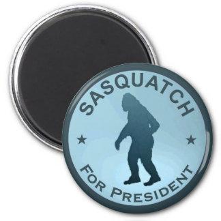 Sasquatch para el presidente imán redondo 5 cm