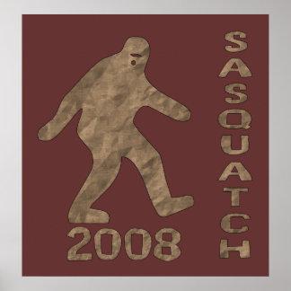 Sasquatch para el presidente impresiones