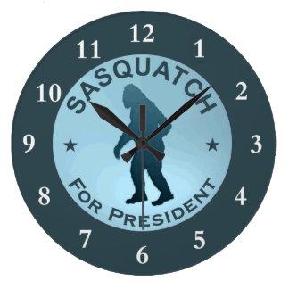 Sasquatch para el presidente reloj redondo grande