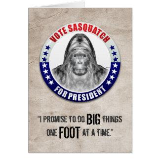 Sasquatch para el presidente felicitaciones