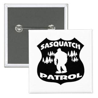 Sasquatch Patrol Forest Badge 2 Inch Square Button