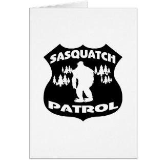 Sasquatch Patrol Forest Badge Card
