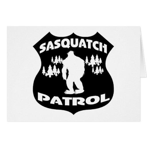 Sasquatch Patrol Forest Badge Greeting Card