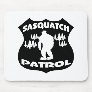 Sasquatch Patrol Forest Badge Mouse Pad