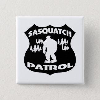 Sasquatch Patrol Forest Badge Pinback Button