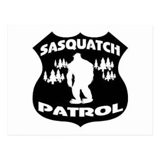 Sasquatch Patrol Forest Badge Postcard