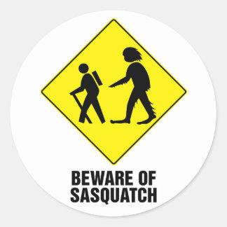 Sasquatch Pegatinas Redondas