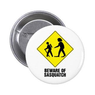 Sasquatch Pin Redondo De 2 Pulgadas