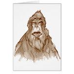SASQUATCH PORTRAIT - Bigfoot Pro's Squatch Head Greeting Card