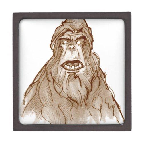 SASQUATCH PORTRAIT - Bigfoot Pro's Squatch Head Premium Trinket Box