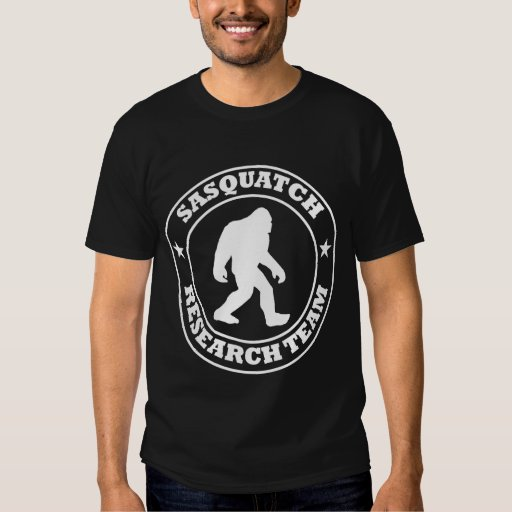 SASQUATCH RESEARCH TEAM - Bigfoot Pro's White Logo T Shirts