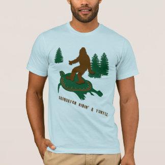 Sasquatch Ridin' a Turtle T-Shirt