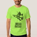 Sasquatch Riding a Great White Shark T Shirts