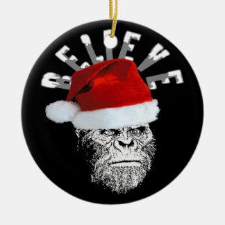 Sasquatch Santa Believe Christmas Tree Ornament