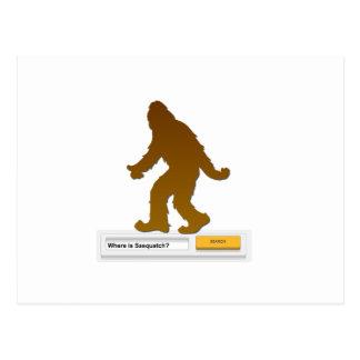 Sasquatch Search Engine Postcard