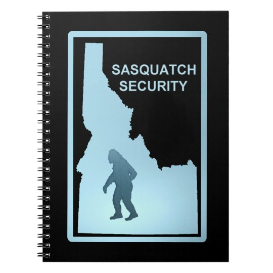 Sasquatch Security - Idaho Spiral Notebook