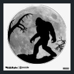 """Sasquatch Silhouette and Moon background Wall Sticker<br><div class=""""desc"""">Funny Gone Squatchin wall decals.  Featuring bigfoot riding his bike across the moon.</div>"""
