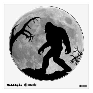 Sasquatch Silhouette and Moon background Wall Sticker