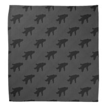 Sasquatch Silhouette on Carbon Fiber decor Bandana