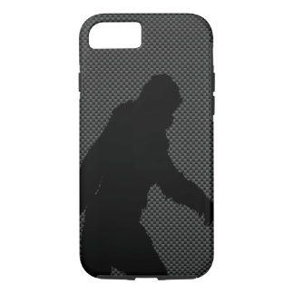Sasquatch Silhouette on Carbon Fiber decor iPhone 7 Case